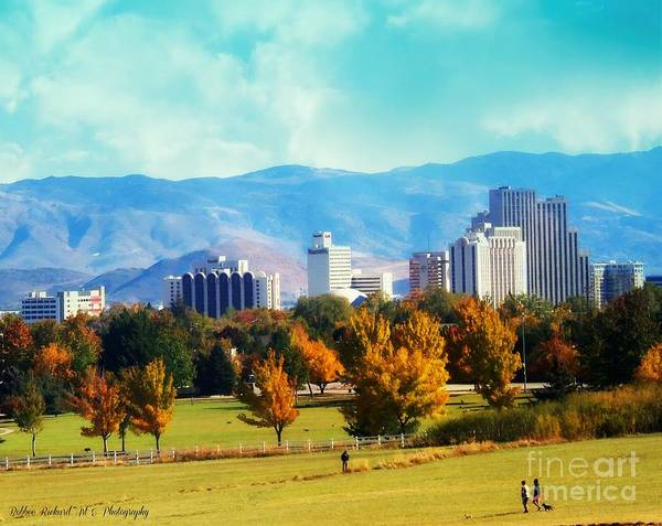 Harrahs Photograph - Reno In The Fall by Bobbee Rickard