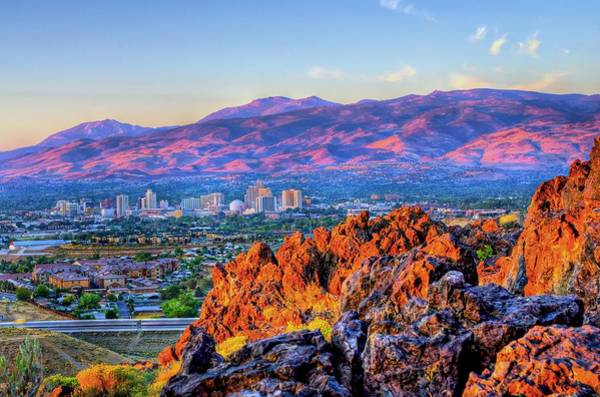 Photograph - Reno Nevada Sunrise by Scott McGuire