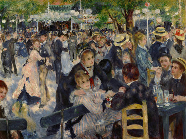 Painting - Renoir Moulin De Galette by Granger