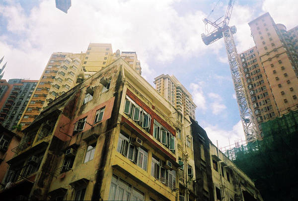 Damaged Photograph - Repair The Old Building In Hongkong by Photography By Bobi