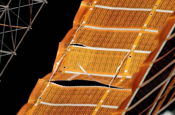 Solar Panels Photograph - Repaired Iss Solar Array by Nasa/science Photo Library