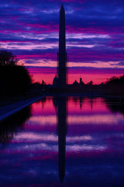 Photograph - Repairing The Monument II by Metro DC Photography