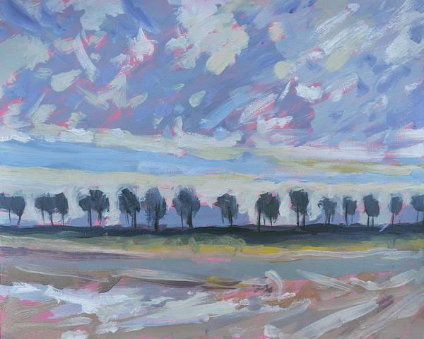 Repeating Sheep And Trees Art Print
