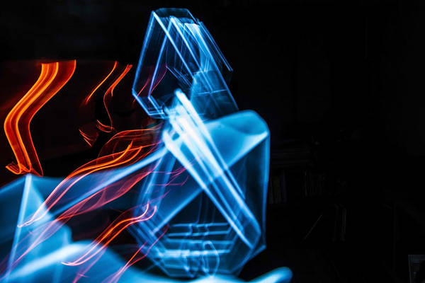 Photograph - Repeating Triangles Light Painting by Sven Brogren