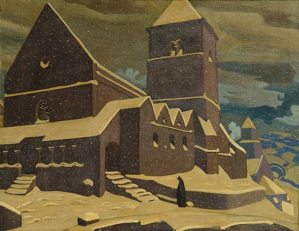 Nk Roerich Painting - Repentance by Nicholas Roerich