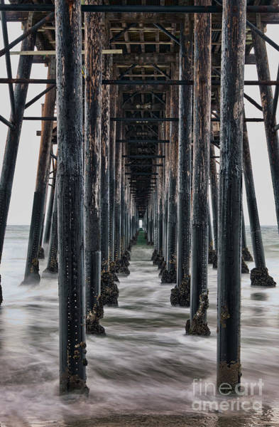 Under The Pier Photograph - Repetition by Eddie Yerkish