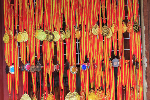 Beijing Photograph - Replica Medals, Shop, The Great Wall by Stuart Westmorland