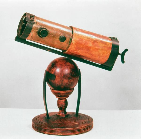 Wall Art - Photograph - Replica Of Newton's Reflecting Telescope by Universal History Archive/uig
