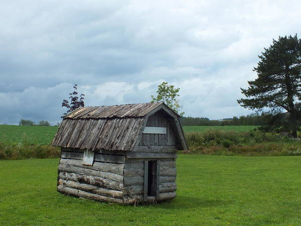Aroostook County Photograph - Replica Of Potato Shed by Gene Cyr