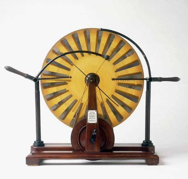 Photograph - Replica Of Wimshurst Machine by Dorling Kindersley/uig