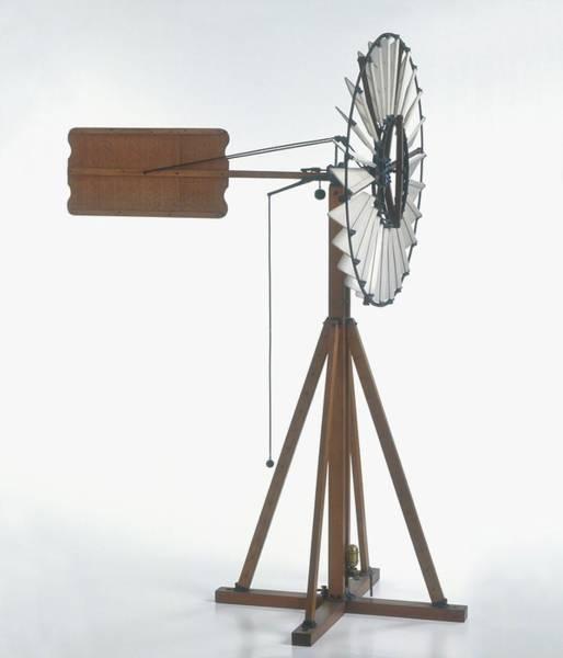 1888 Photograph - Replica Of Wind-powered Pump by Dorling Kindersley/uig