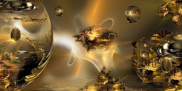 Fractal Landscape Digital Art - Replication... A Tale Of Reflections by Phil Sadler