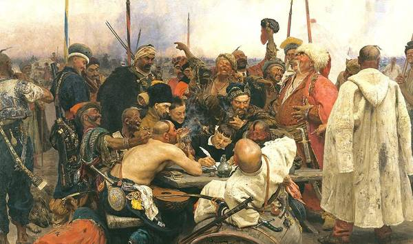 Painting - Reply Of The Zaporozhian Cossacks To Sultan Mehmed Iv by Celestial Images