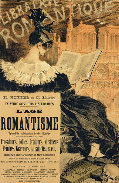 Wall Art - Painting - Reproduction Of A Poster Advertising A Book Entitled The Romantic Age by Eugene Grasset