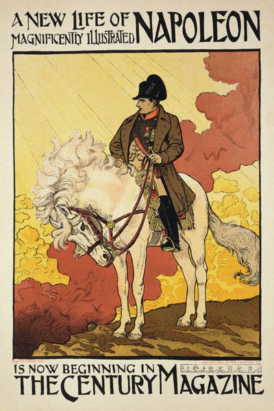 Equestrian Drawing - Vintage Poster Depicting Napoleon by Eugene Grasset