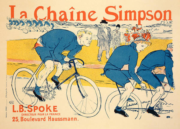 Bicyclist Wall Art - Drawing - Reproduction Of A Poster Advertising by Henri de Toulouse-Lautrec