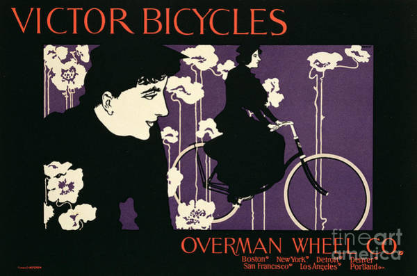 Wall Art - Painting - Reproduction Of A Poster Advertising Victor Bicycles by American School