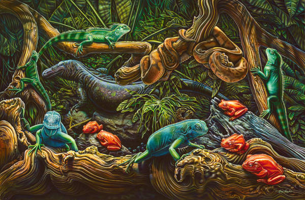 Painting - Reptile Study by JQ Licensing