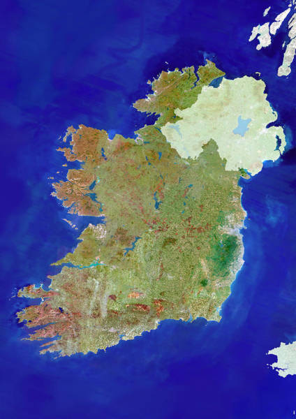 Northern Ireland Photograph - Republic Of Ireland by Planetobserver/science Photo Library