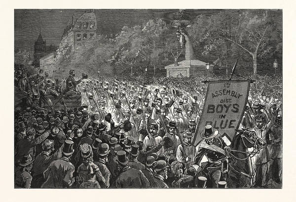 Early American History Drawing - Republican Enthusiasm In New York, The Grand Procession by American School