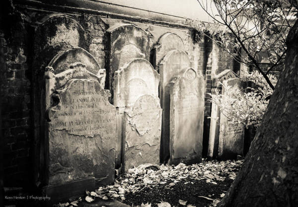 Photograph - Repurposed Tombstones - For Eugene Atget by Ross Henton