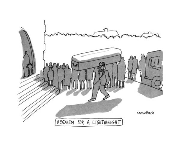 Single Drawing - Requiem For A Lightweight by Michael Crawford