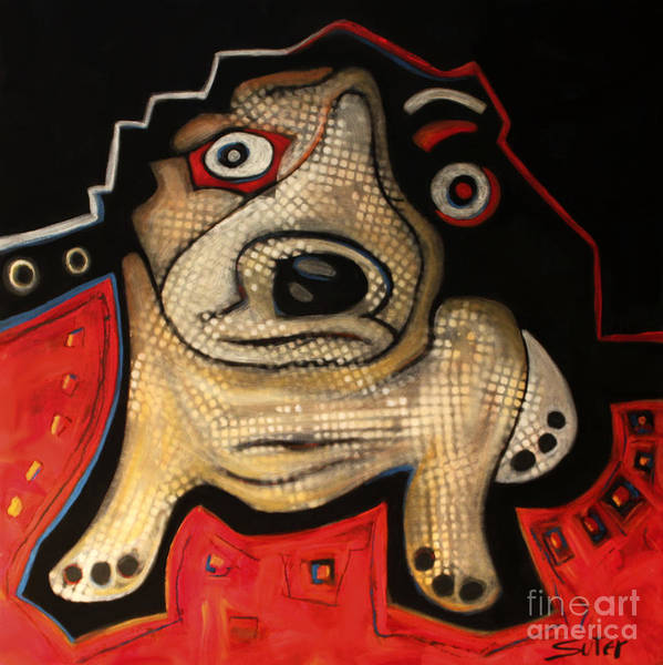 Rescue Puppy Art Print