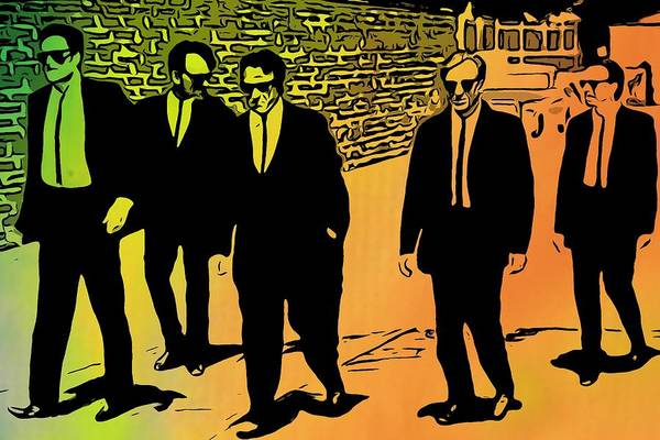Pink And White Digital Art - Reservoir Dogs by Dan Sproul