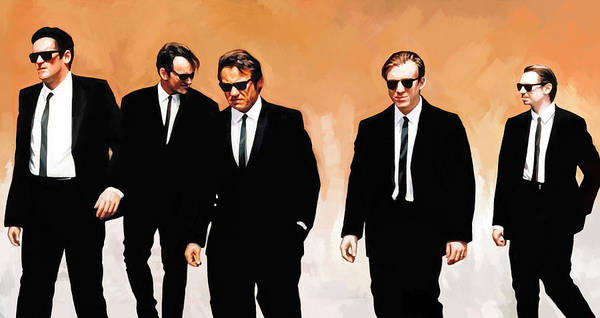 Reservoir Dogs Painting - Reservoir Dogs Movie Artwork 1 by Sheraz A