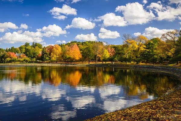 Photograph - Reservoir In Autumn by Robert Mitchell