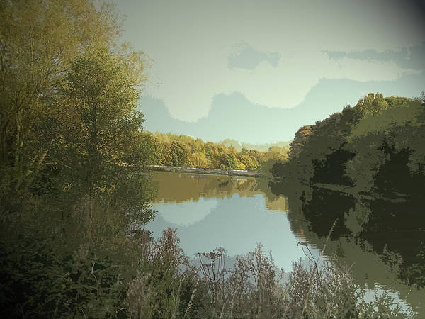 Wall Art - Drawing - Reservoir In Westwood Country Park, Pictured Here by Litz Collection