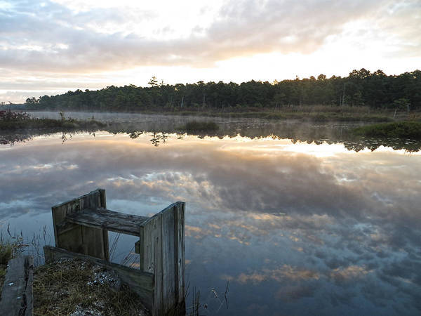 Photograph - Reservoir Reflections by Kristia Adams