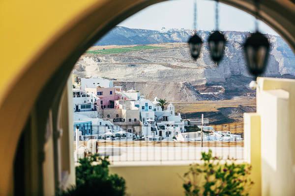 Photograph - Residential Houses In Santorini, Greece by Deimagine