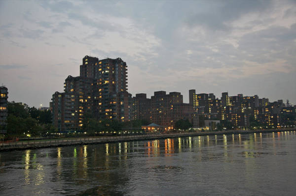 Roosevelt Island Wall Art - Photograph - Residential Towers Near Water At Dusk by Barry Winiker