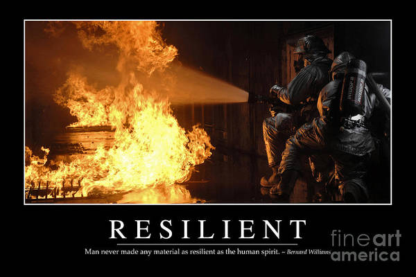 Photograph - Resilient Inspirational Quote by Stocktrek Images