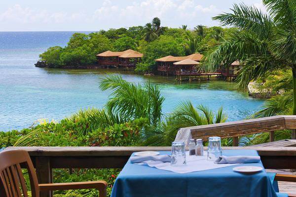 Roatan Photograph - Resort On The Water, Roatan Island by Keren Su