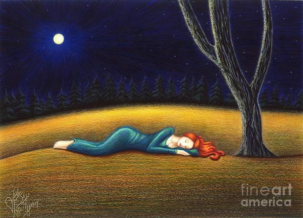 Grass Field Drawing - Rest For A Weary Heart by Danielle R T Haney