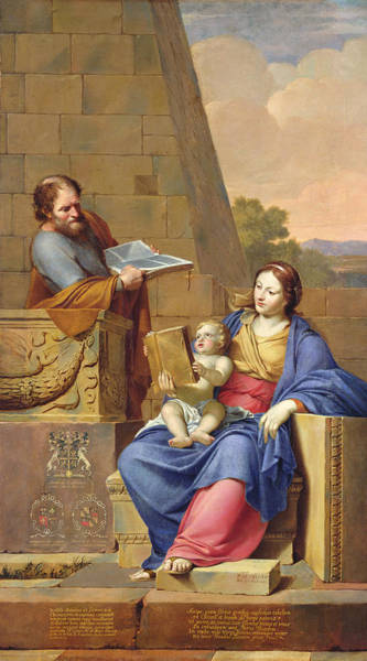 Madonna Photograph - Rest On The Flight Into Egypt, 1658 Oil On Canvas by Pierre Letellier