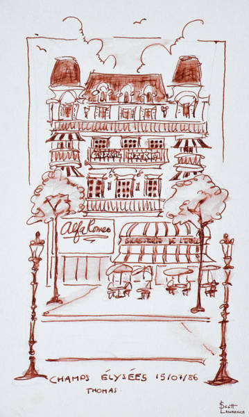 Wall Art - Photograph - Restaurant Along The Champs Elysees by Richard Lawrence