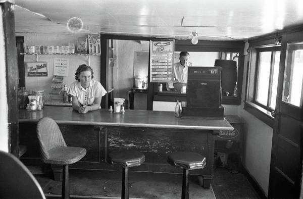 Photograph - Restaurant Counter, 1939 by Granger