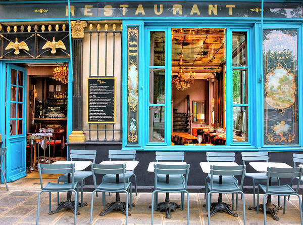 Photograph - Restaurant In Ile Saint Louis In Paris by Visions Of Our Land