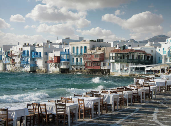 Photograph - Restaurant Tables On The Mykonos by Ed Freeman