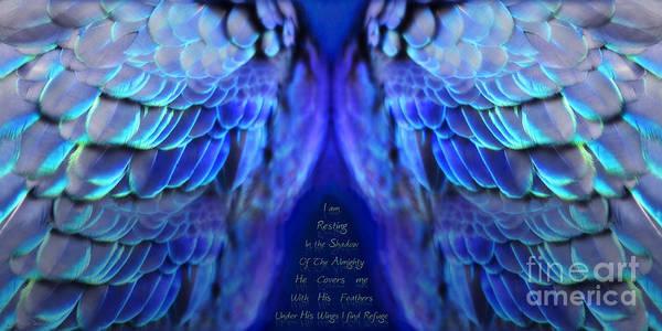 Digital Image Digital Art - Psalm 91 Wings by Constance Woods