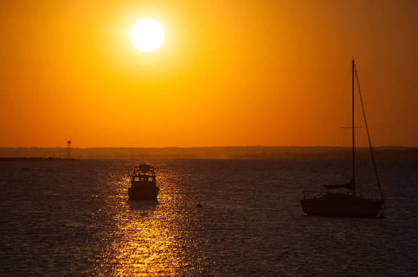 Silhoutte Photograph - Resting Boats by Karol Livote