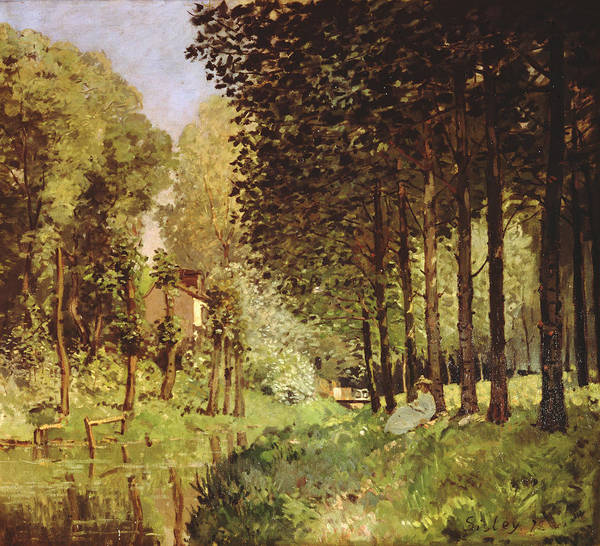 Impressionist Photograph - Resting By The Brook, 1878 Oil On Canvas by Alfred Sisley