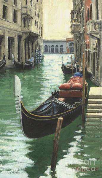 Wall Art - Painting - Resting Gondola by Michael Swanson
