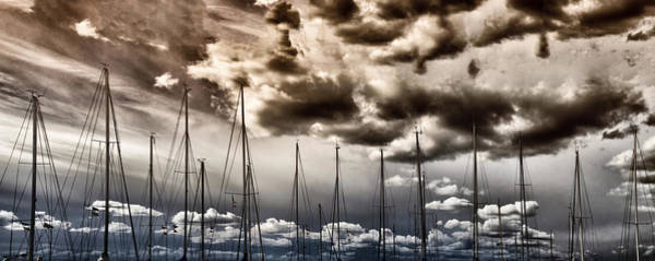 Rigging Photograph - Resting Sailboats by Stelios Kleanthous