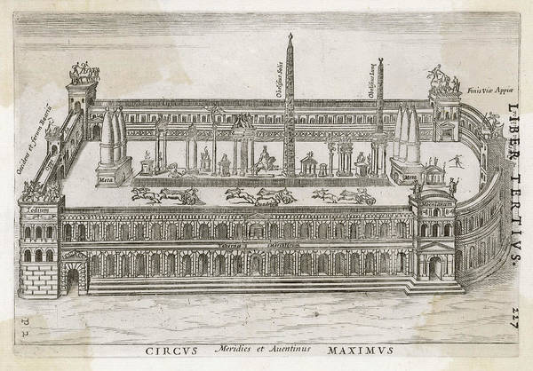 Reconstruction Drawing - Restoration Of The Circus Maximus by Mary Evans Picture Library