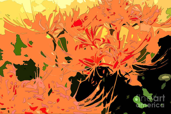 Hurricane Lily Digital Art - Resurrection Lilies In Autumn Hues - Part IIi by Beverly Claire Kaiya