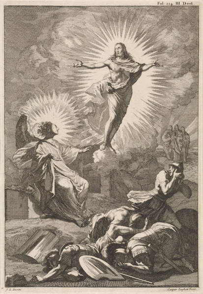 Rood Wall Art - Drawing - Resurrection Of Christ, Caspar Luyken, William Broedelet by Caspar Luyken And William Broedelet